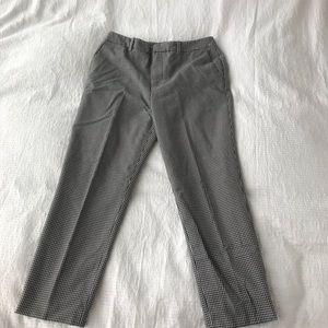 Houndstooth crop pants